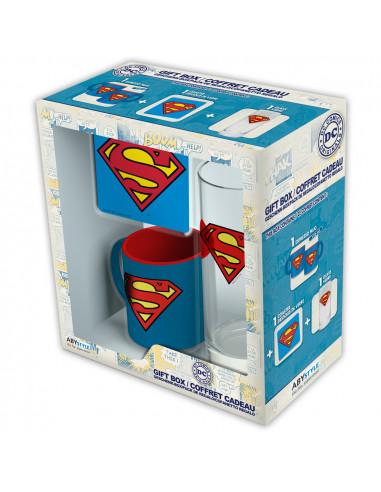 DC COMICS - PCK GLASS 29CL + COASTER...